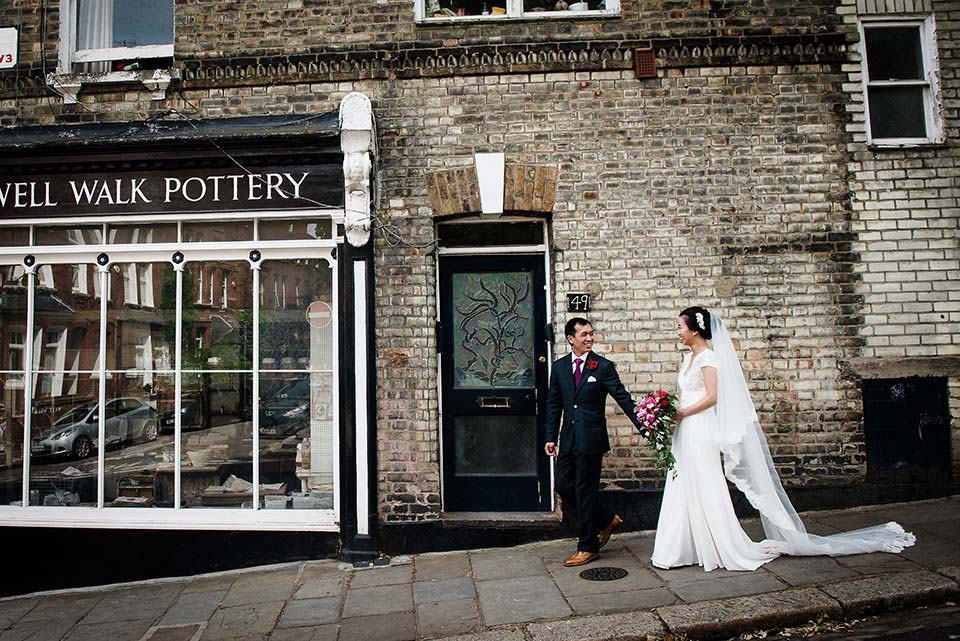 Bride Groom Walk Through Hampstead Burgh House