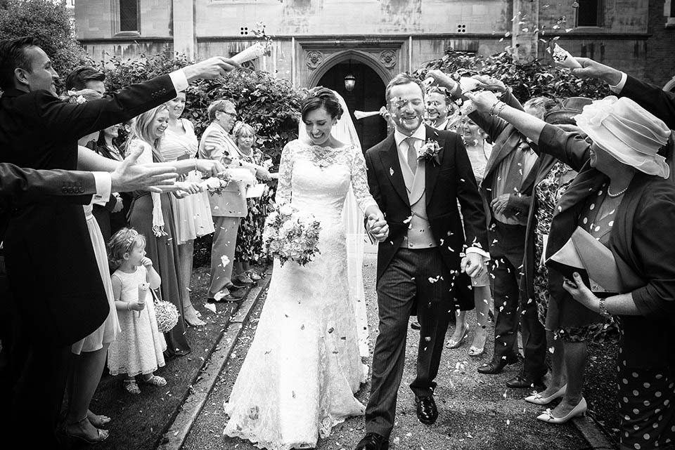 Confetti At London Wedding