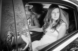 Documentary wedding photography - Bride arrives for ceremony