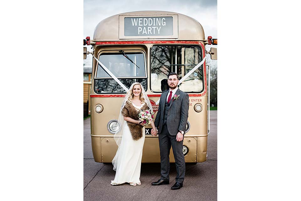 Wedding Party Vintage Bus Dulwich College