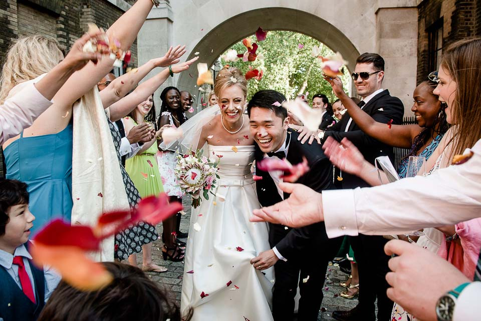London Wedding Photographer Confetti Shot