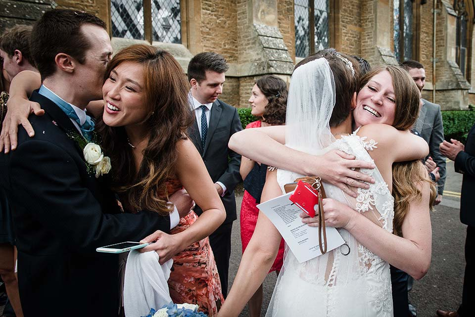 Guests Congratulating Bride