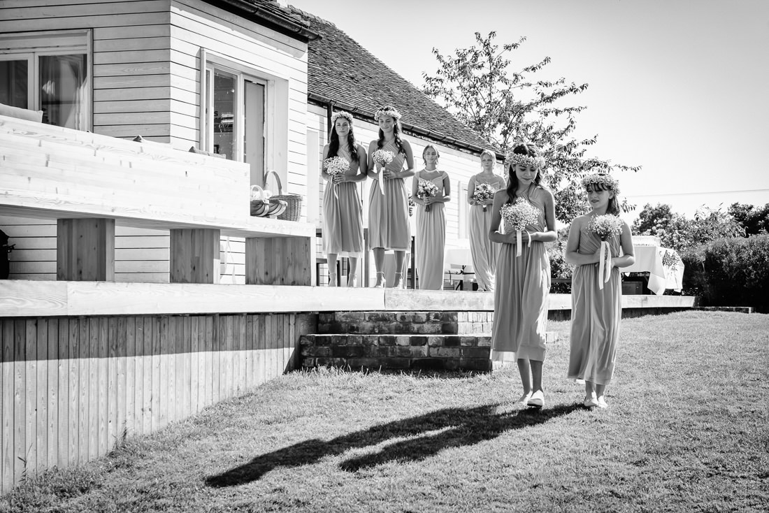 Documentary Wedding Photo Bridesmaids Kent