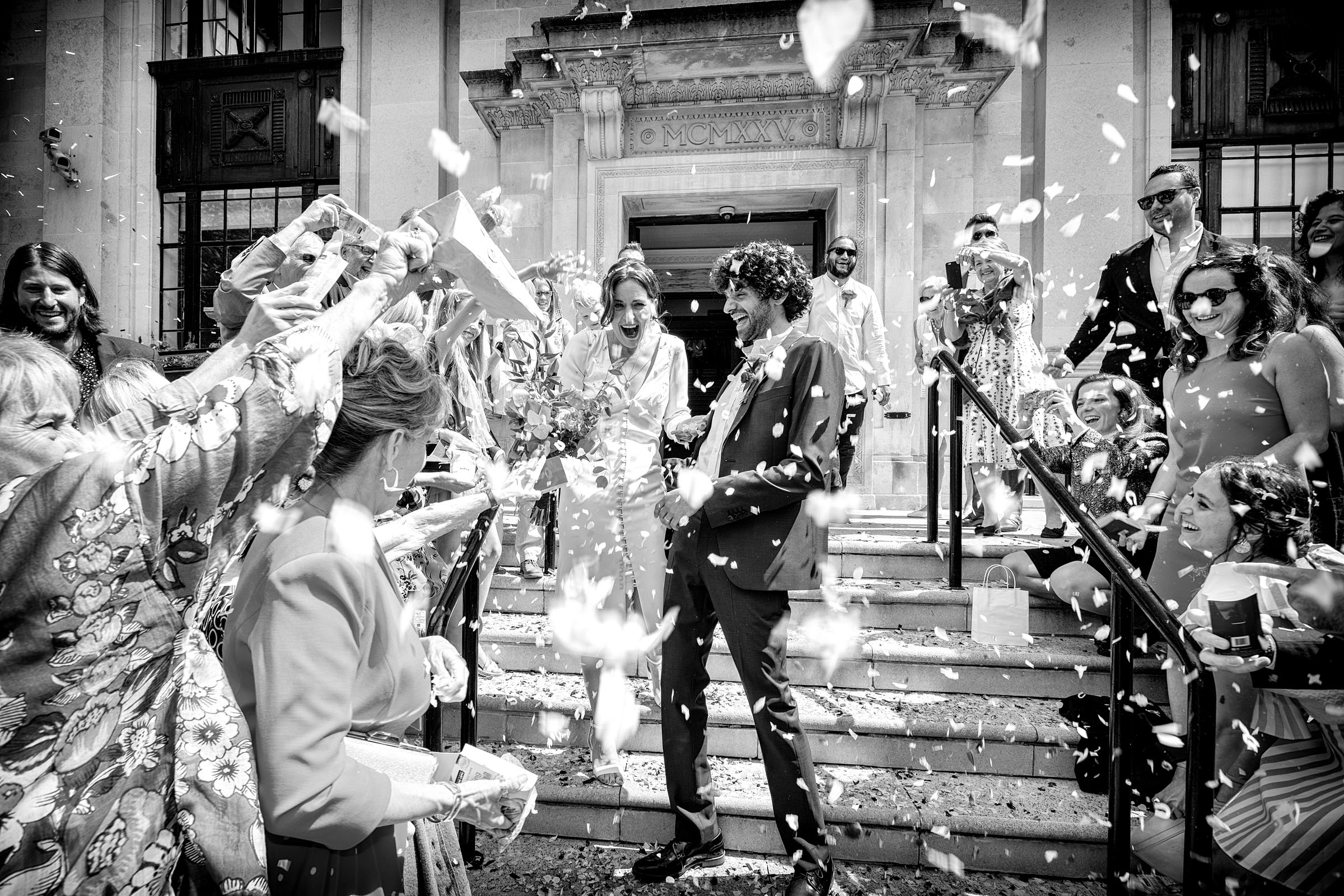 Documentary wedding photography - Islington Town Hall